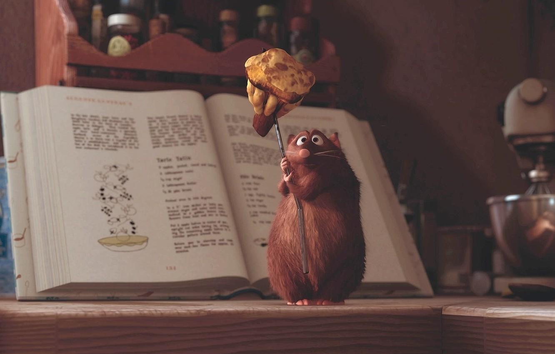 Photo wallpaper cartoon, Ratatouille, mouse