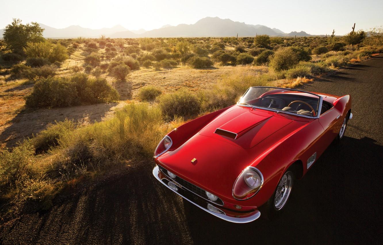 Photo wallpaper Ferrari, Ferrari, CA, Spyder, California, 1958, 250 GT, Long Wheelbase, headlights covered