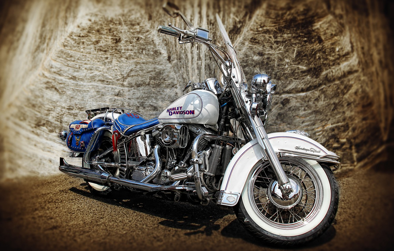Photo wallpaper HDR, motorcycle, Harley-Davidson