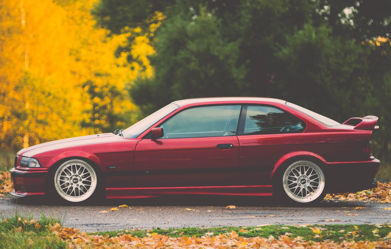 Photo wallpaper tuning, bmw, BMW, red, stance, E36