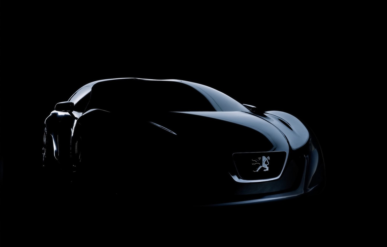 Photo wallpaper machine, auto, dark, peugeot, concep