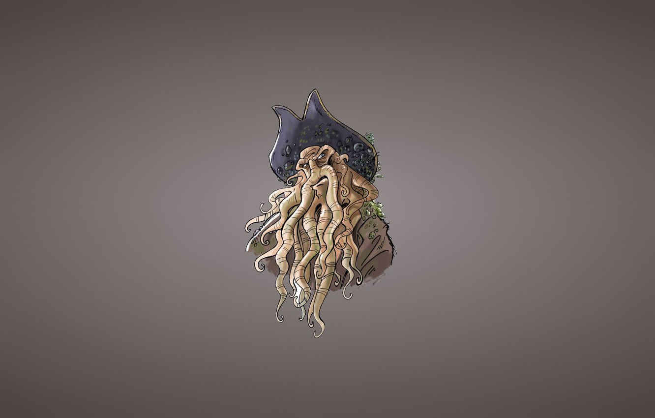 Wallpaper Hat Minimalism Davy Jones Davy Jones Octopus