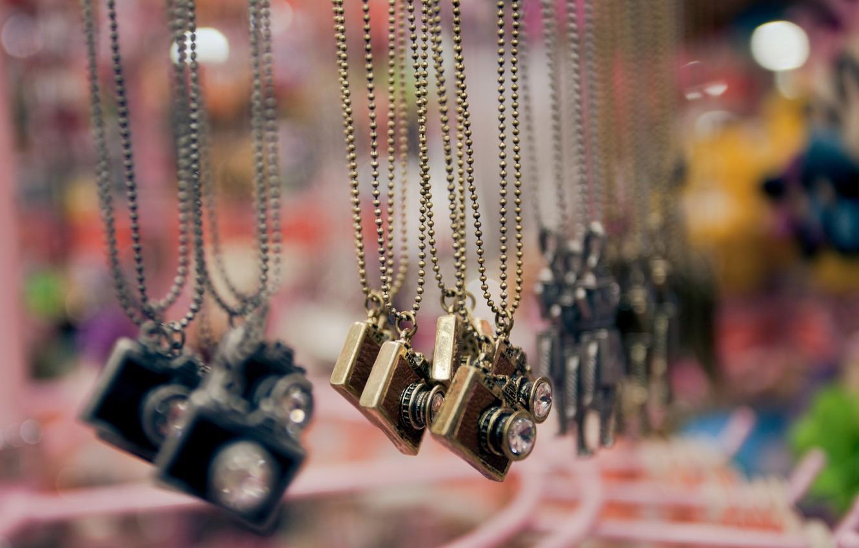 Photo wallpaper background, widescreen, Wallpaper, blur, the camera, pendant, wallpaper, decoration, chain, different, widescreen, background, full screen, …
