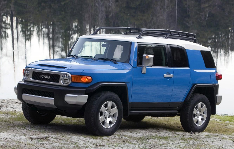 Photo wallpaper Blue, Japan, Machine, Wallpaper, Jeep, Japan, Toyota, Car, Auto, Car, Wallpapers, SUV, Toyota, Cruiser, Cruiser, …