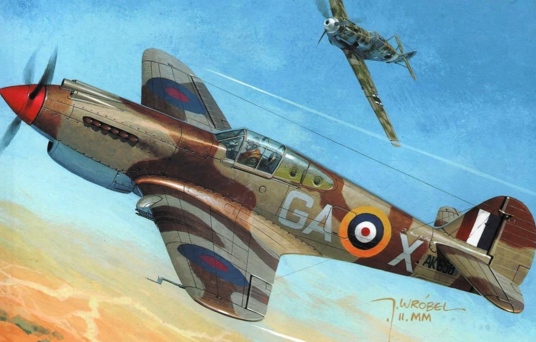 Обои американский, p-40, warhawk, kittyhawk, tomahawk, curtiss, Самолёт. Авиация foto 14