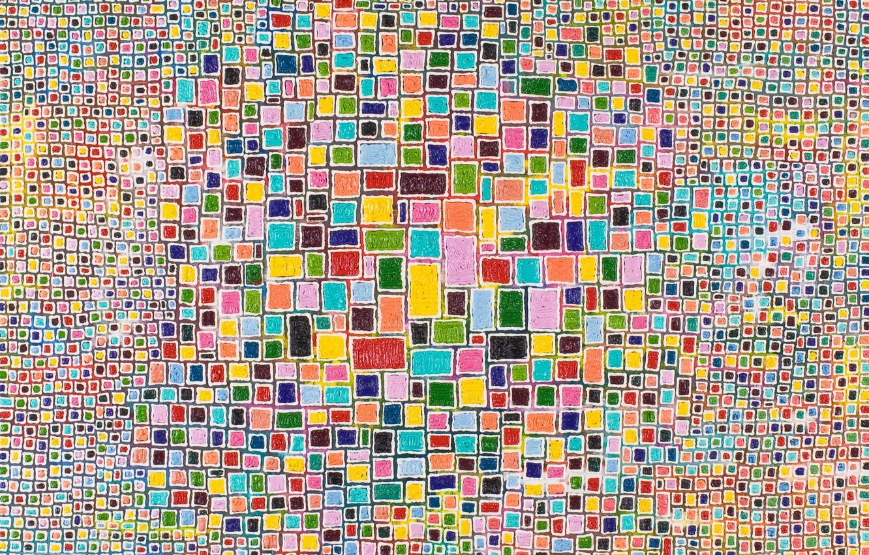 Photo wallpaper mosaic, texture, colorful