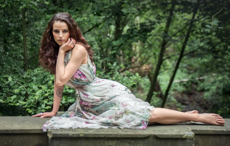 Photo wallpaper girl, pose, background, Krystina