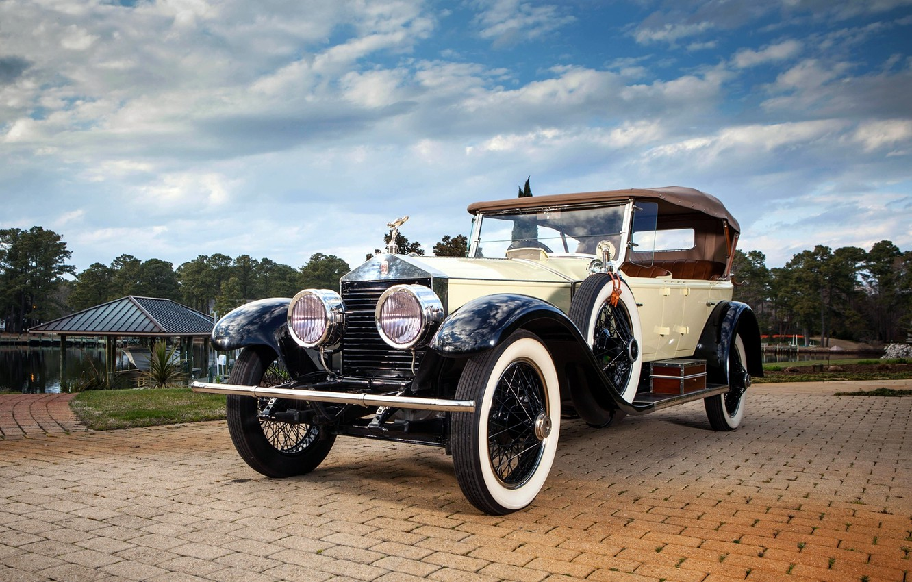Photo wallpaper the sky, Rolls-Royce, the front, Rolls-Royce, 40/50, Silver Ghost, 1923, Pall Mall Tourer