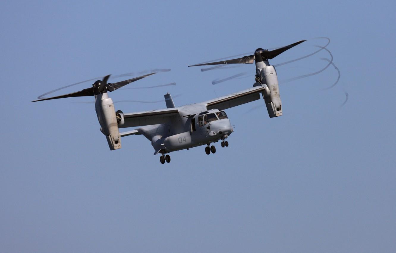 Photo wallpaper V-22 Osprey, Pilots, Propellers, Tiltrotor