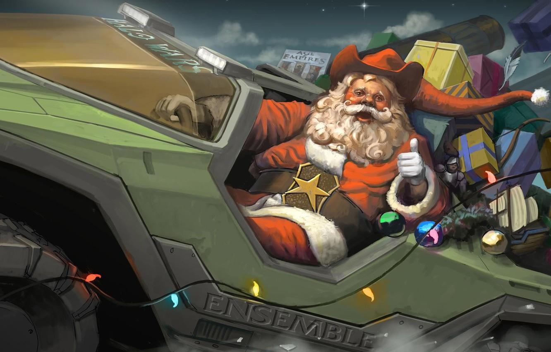 Wallpaper Christmas Gifts Halo Santa Claus Halo Wars Age Of