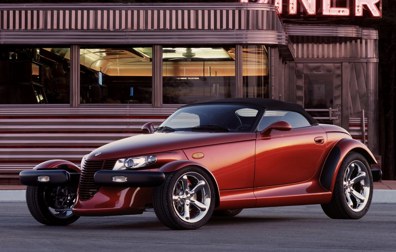Photo wallpaper background, Plymouth, the front, Prowler, Plymouth, Powler