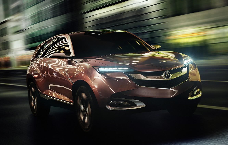 Photo wallpaper auto, Concept, lights, the concept, the front, Acura, SUV-X