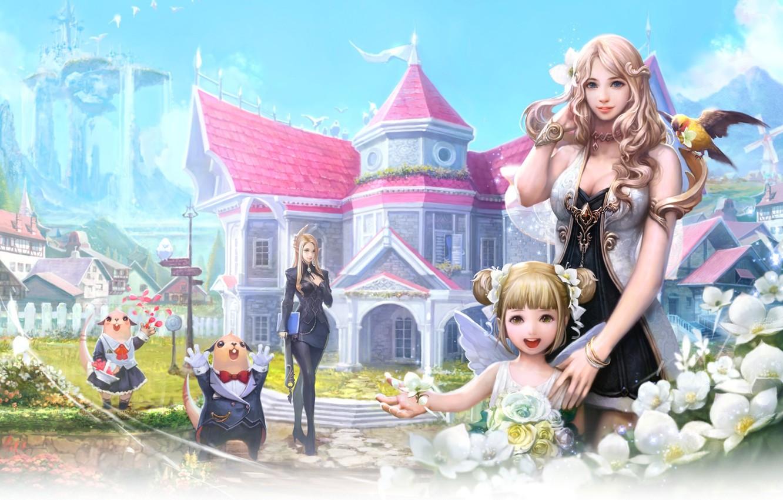 Photo wallpaper Fantasy, game, Aion, anime
