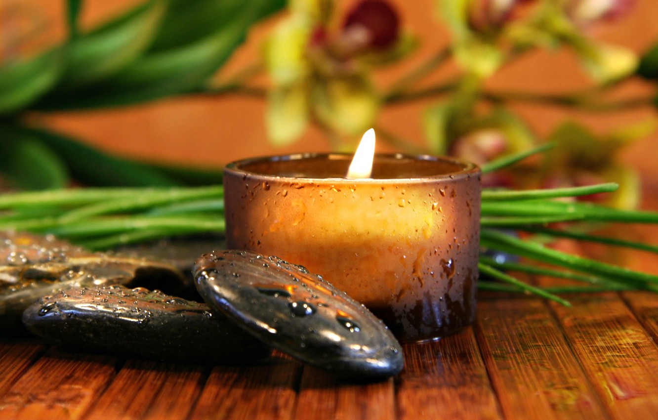 Wallpaper Greens Stones Relax Black Candle Relaxation Images For Desktop Section Makro Download
