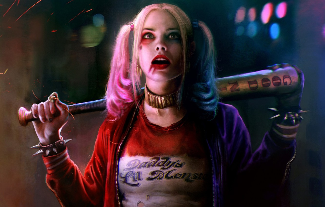 Photo wallpaper girl, bit, harley quinn, Suicide Squad, suicide squad, margot robbie