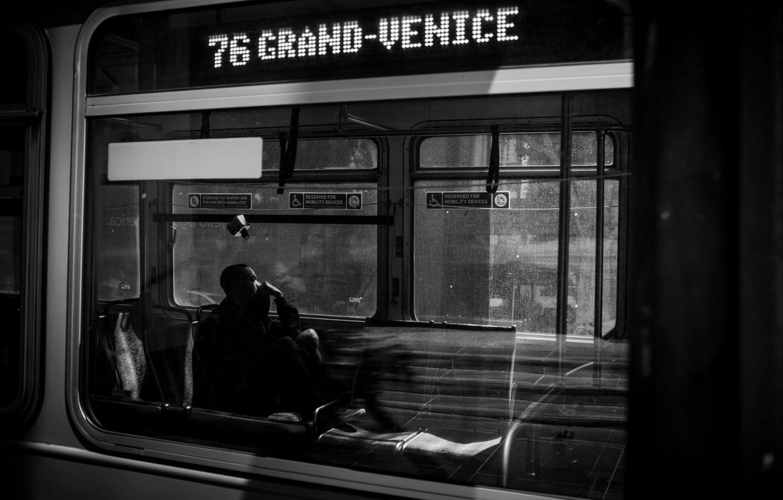 Photo wallpaper Wallpaper, Photo, Man, Rinzi Ruiz, Black & White, Subway Cars