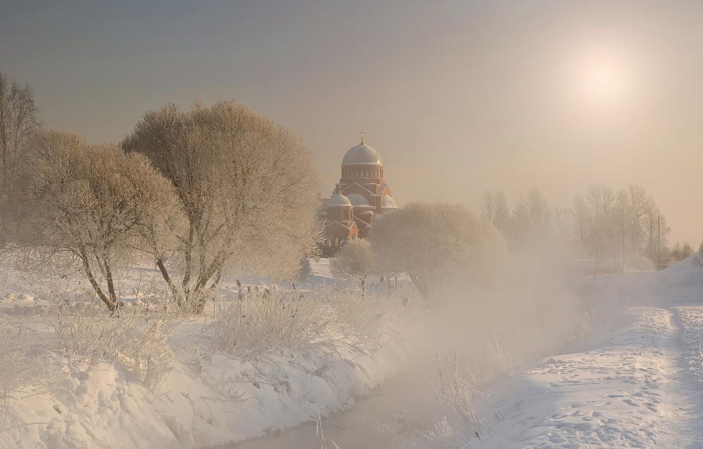 Photo wallpaper winter, Peter, frost