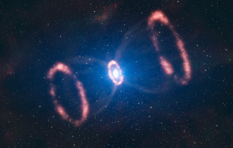 Photo wallpaper stars, nebula, pulsar, supernova