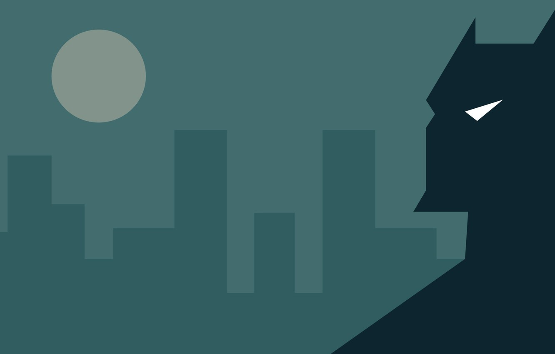Photo wallpaper the city, minimalism, Batman, Batman