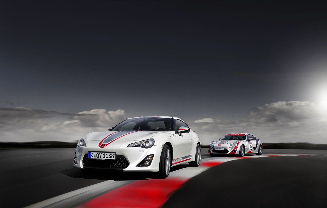 Photo wallpaper Auto, Turn, Toyota, Toyota, GT86, In Motion, Two, GT 86, Cup Edition