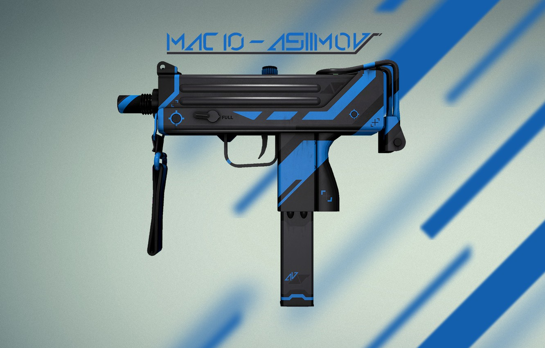 Photo wallpaper Weapons, Gun, Valve, Counter Strike, Steam, Skin, Weapon, CS:GO, Global Offensive, Workshop, Asiimov, Coridium, MAC …
