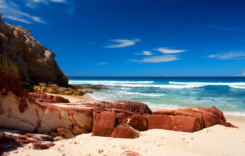 Photo wallpaper sea, wave, water, nature, stones, the ocean, shore, landscapes, beaches