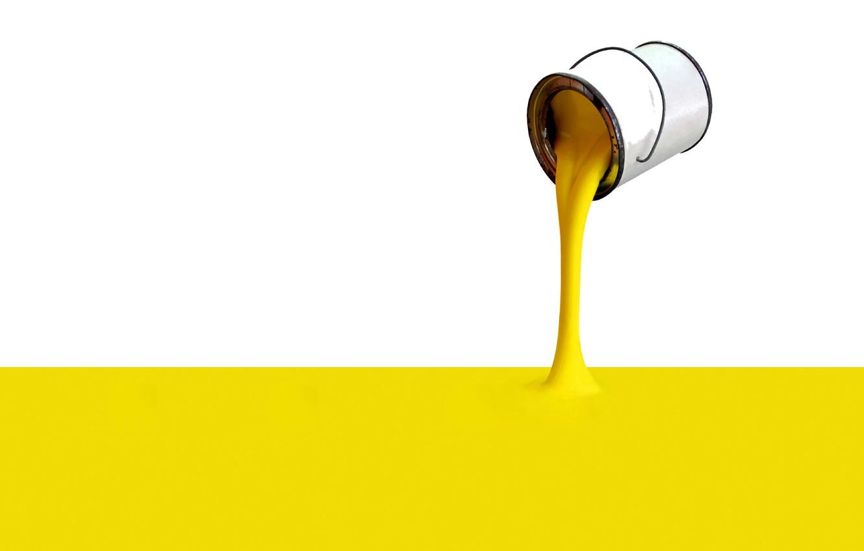 Photo wallpaper yellow, Wallpaper, paint, Bank