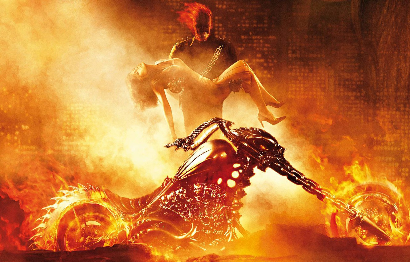 motorcycle, Ghost Rider, marvel, Marvel
