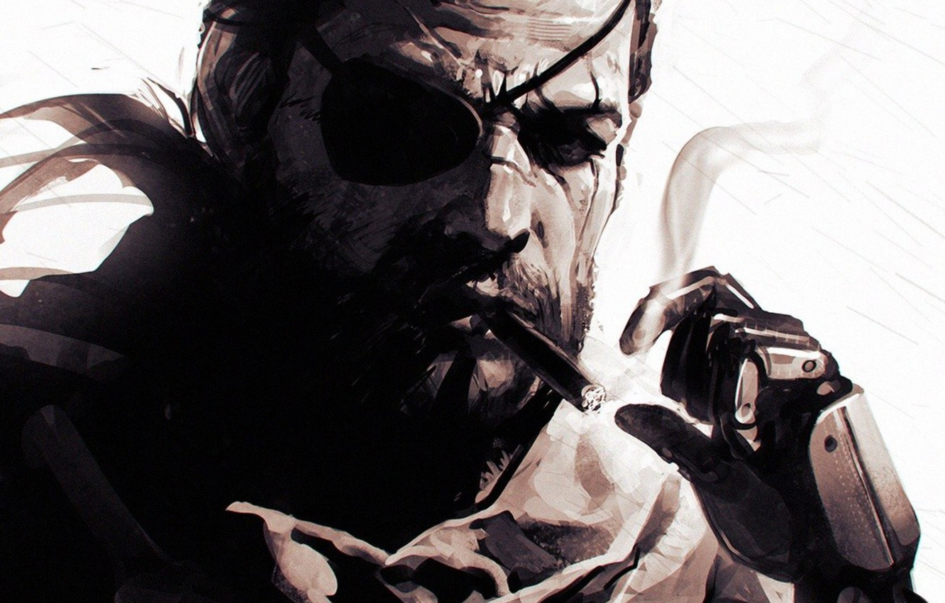 Wallpaper Mgs Konami Naked Snake Snake Big Boss Metal
