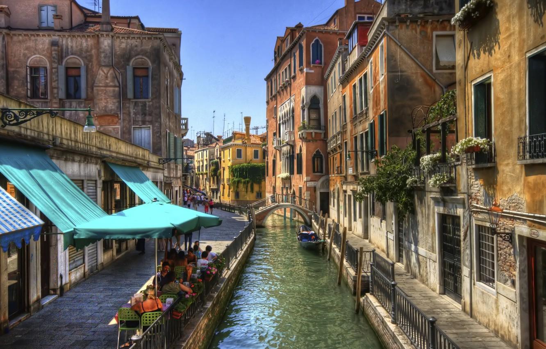 Photo wallpaper Italy, Venice, channel