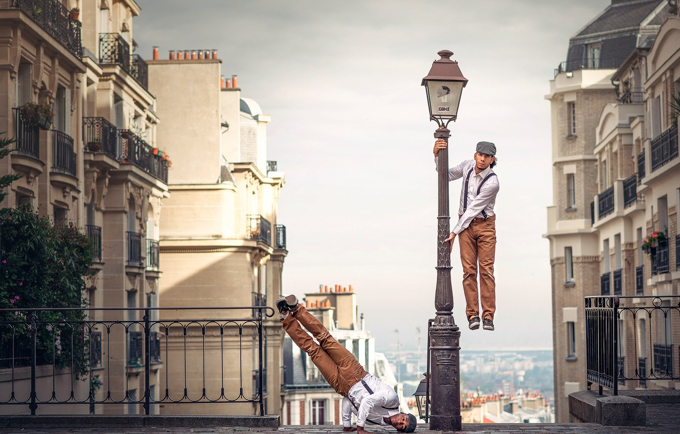 Photo wallpaper the city, background, dancer, French Wingz