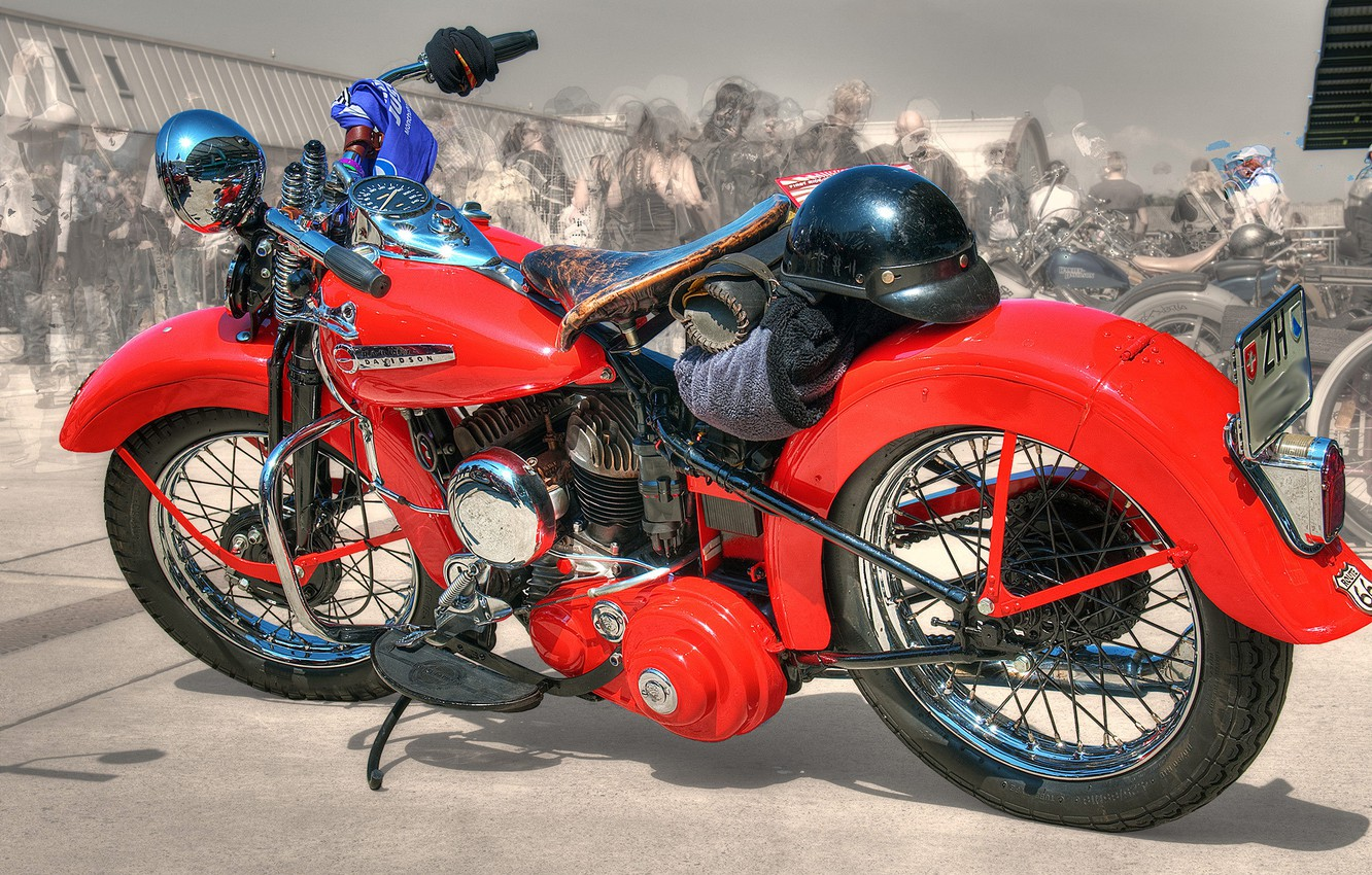 Photo wallpaper red, design, style, background, HDR, motorcycle, form, bike