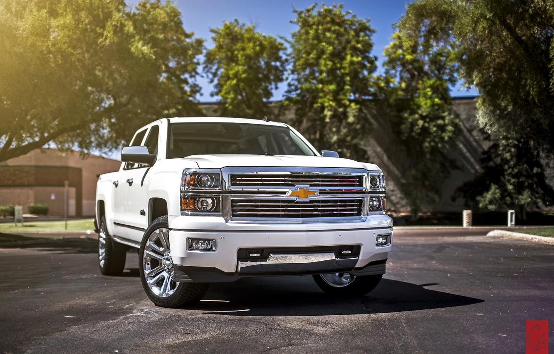 Photo wallpaper white, Chevrolet, Chevrolet, pickup, Silverado, silverado