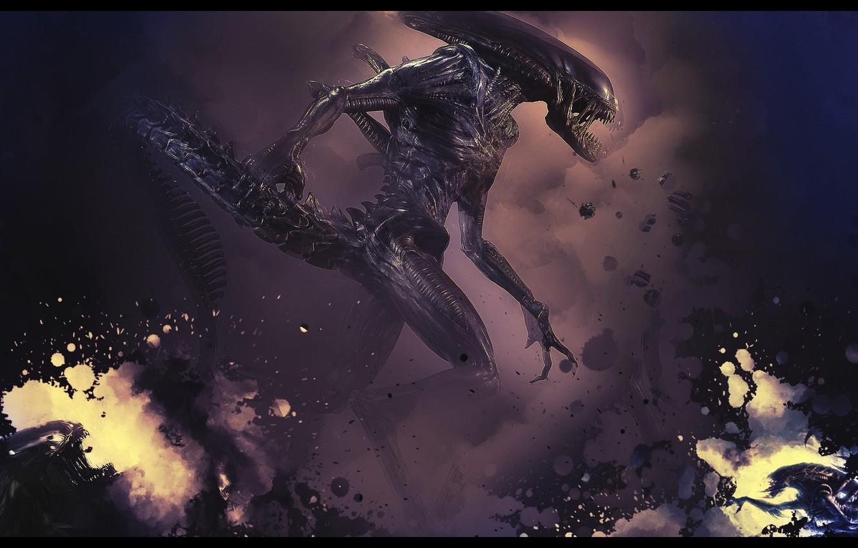 Photo wallpaper fiction, monster, Stranger, Alien