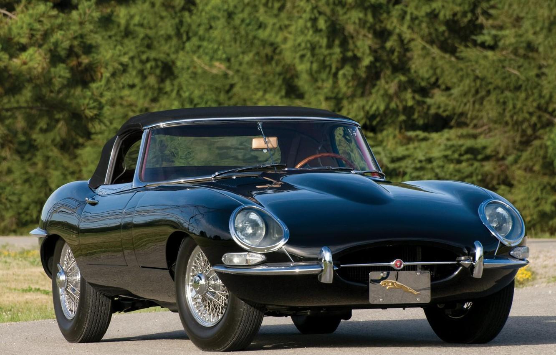 Photo wallpaper car, jaguar, retro, e-type, 1961