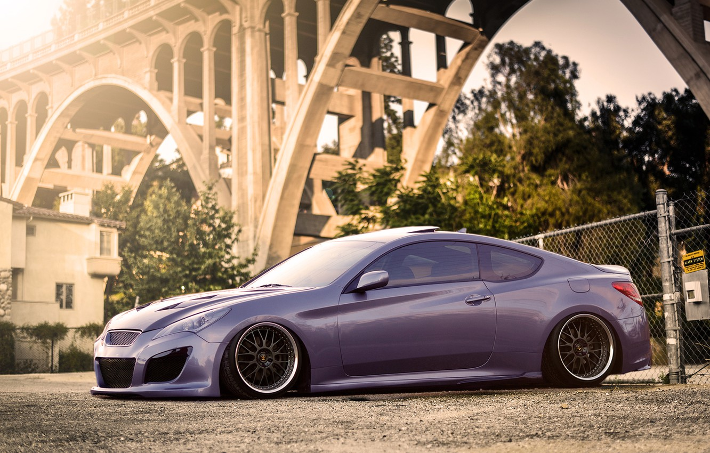 Photo wallpaper tuning, rechange, stance, Hyundai, Hyundai Genesis Coupe
