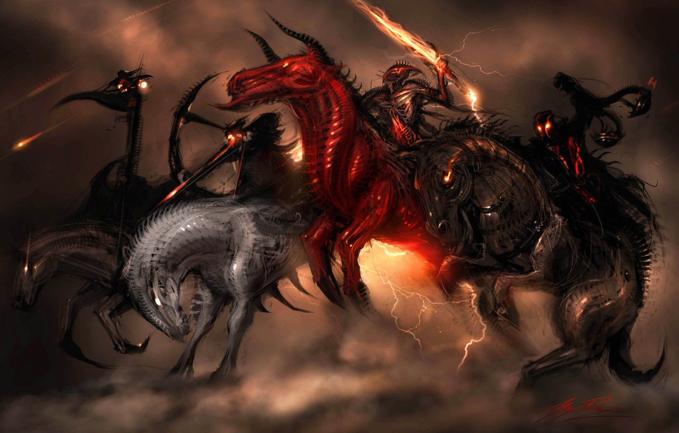 Photo wallpaper weapons, horse, rider