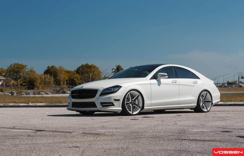 Photo wallpaper tuning, drives, vossen, Mercedes Benz CLS