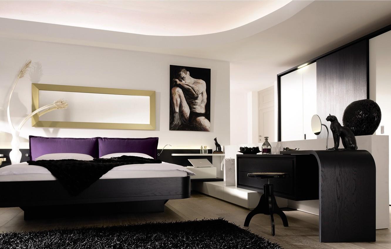 . Wallpaper design  house  style  Villa  interior  bedroom  modern