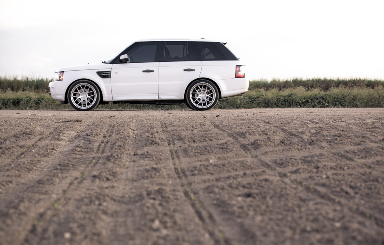 Photo wallpaper white, Rover, Range