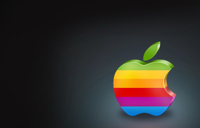 Photo wallpaper color, apple, Apple, logo