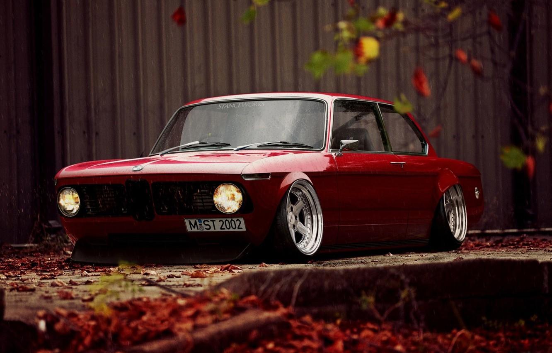 Photo wallpaper drops, retro, tuning, BMW, wet, BMW, stance