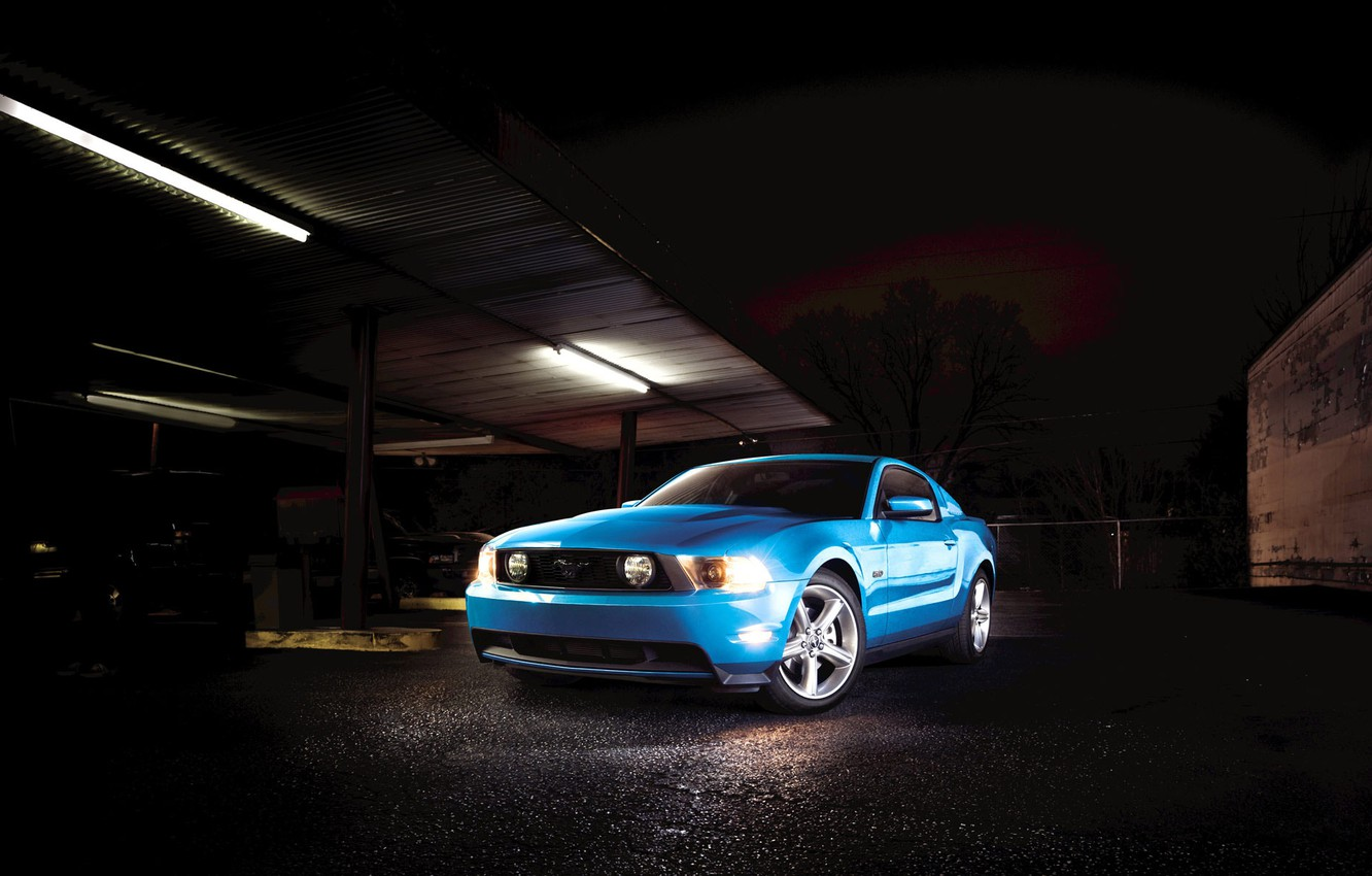 Photo wallpaper mustang, Garage, ford, muscle car
