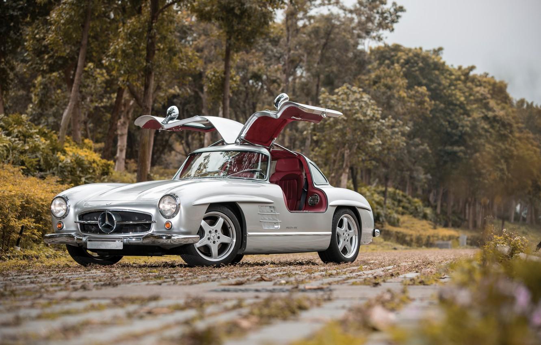 Photo wallpaper Mercedes, Benz, 300, SL AMG
