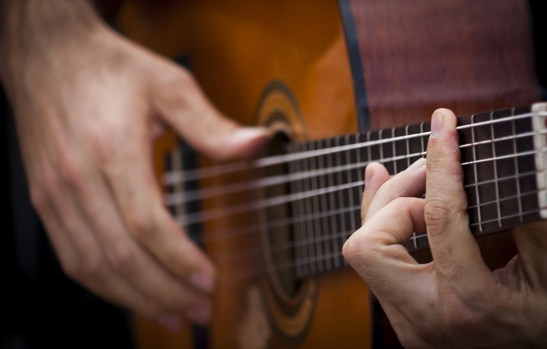 Photo wallpaper music, guitar, hands