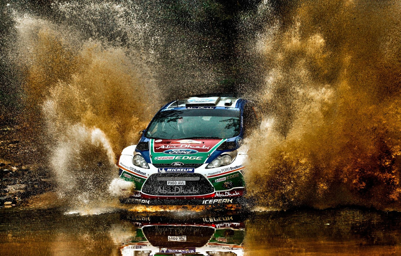 Photo wallpaper auto, squirt, race, sport, ford, rally