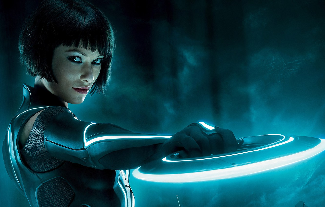 Photo wallpaper Disk, Olivia, Olivia Wilde, Tron