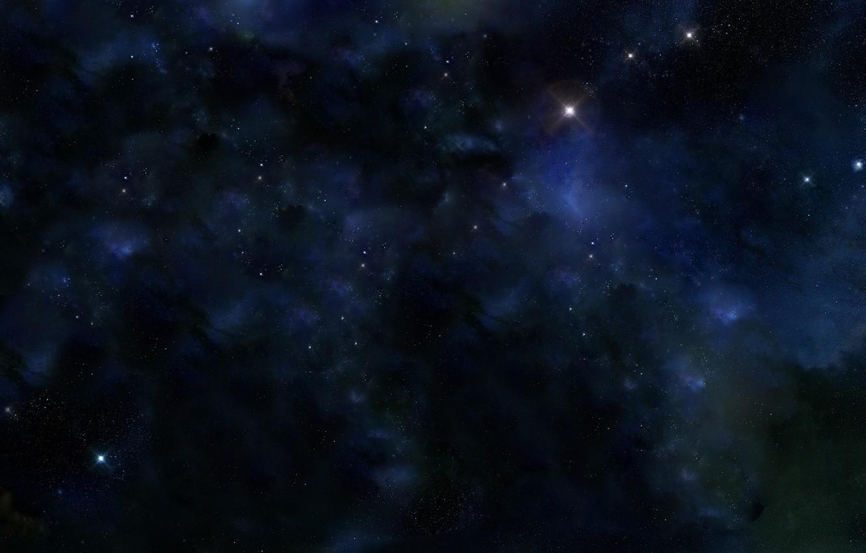 Photo wallpaper stars, blue, nebula, galaxy