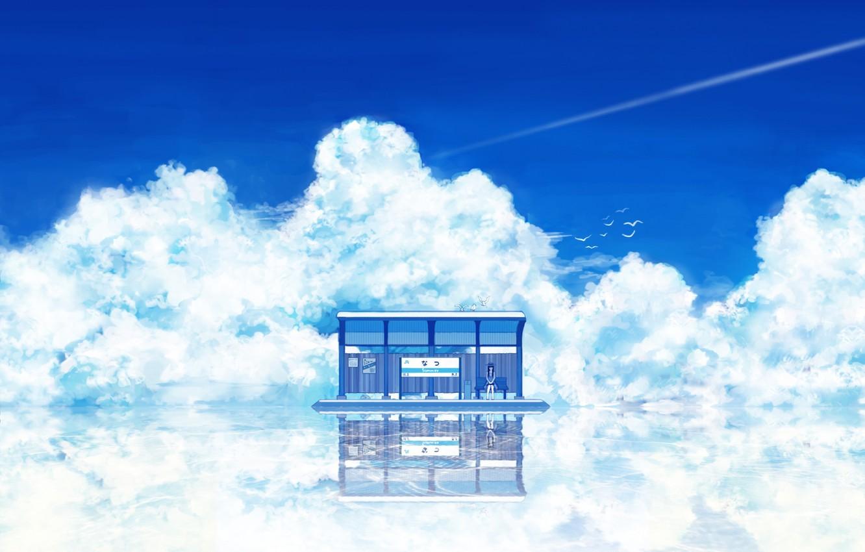 Photo wallpaper Water, Summer, Anime
