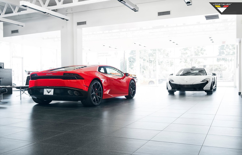 Photo wallpaper McLaren, Lamborghini, Vorsteiner, Huracan